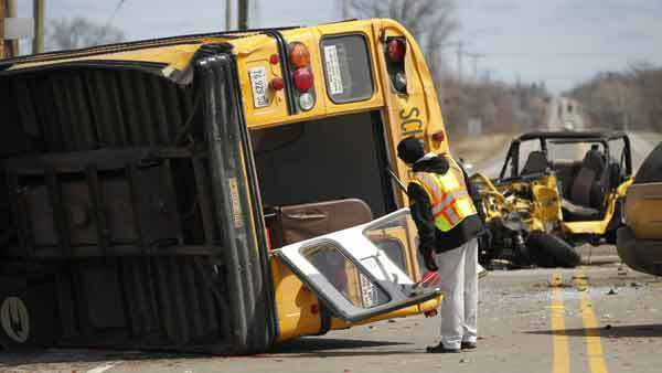 Accidents Between School Bus and A Jeep: The Liability
