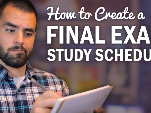 How to Create a College Exam Study Schedule